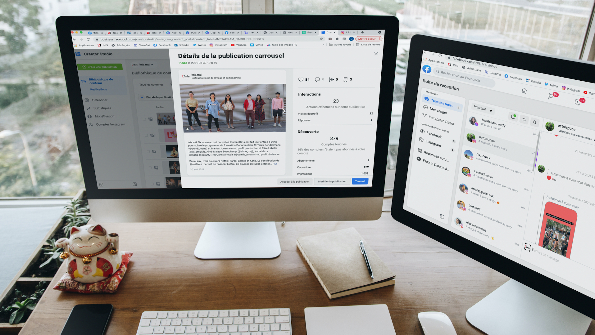 Maximiser ses opérations sur Facebook, Instagram et Messenger
