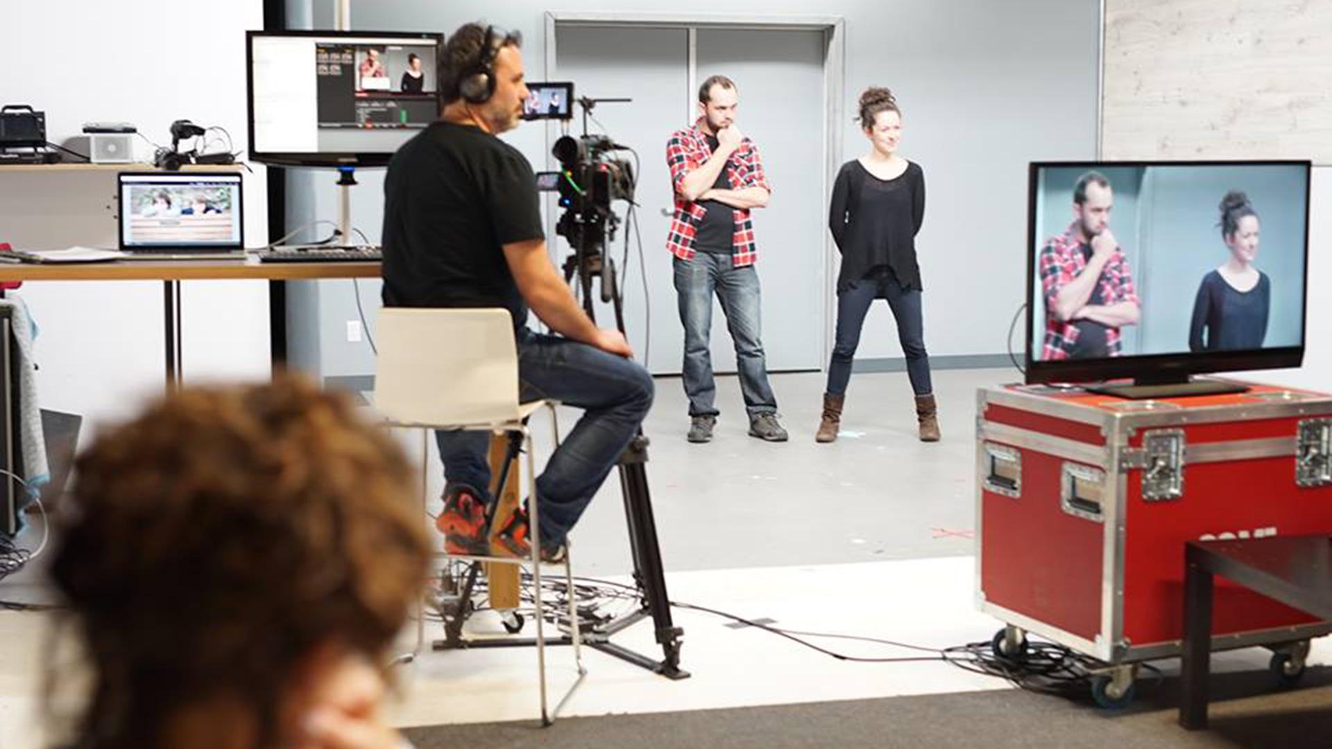 Préparation des acteurs à une audition pour la publicité