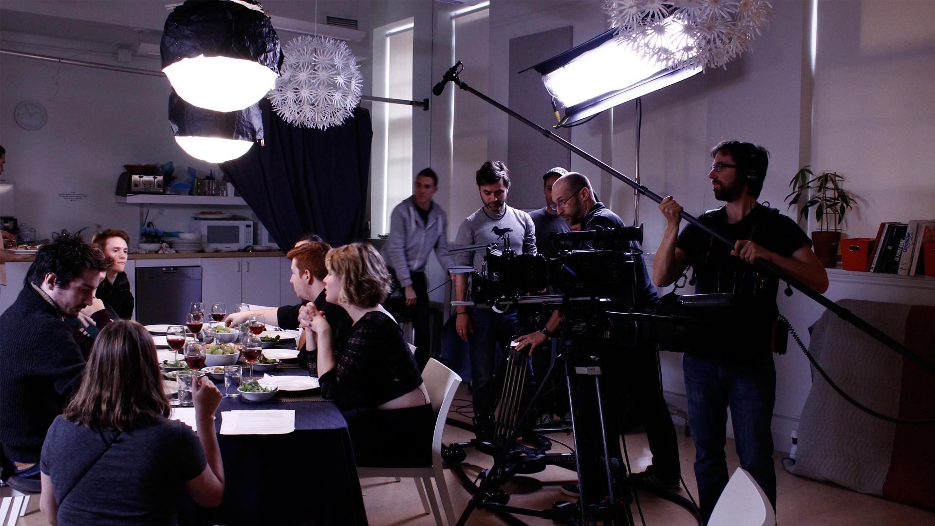 Protocole sur un plateau de tournage