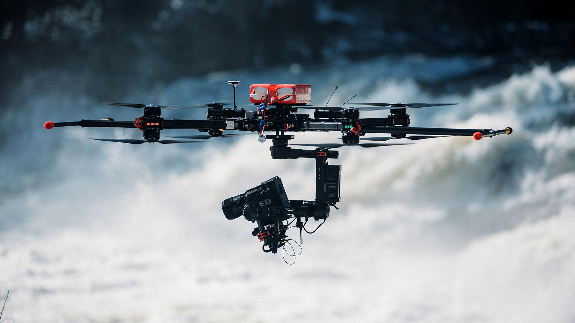 Utilisation sécuritaire d'un drone sur un plateau