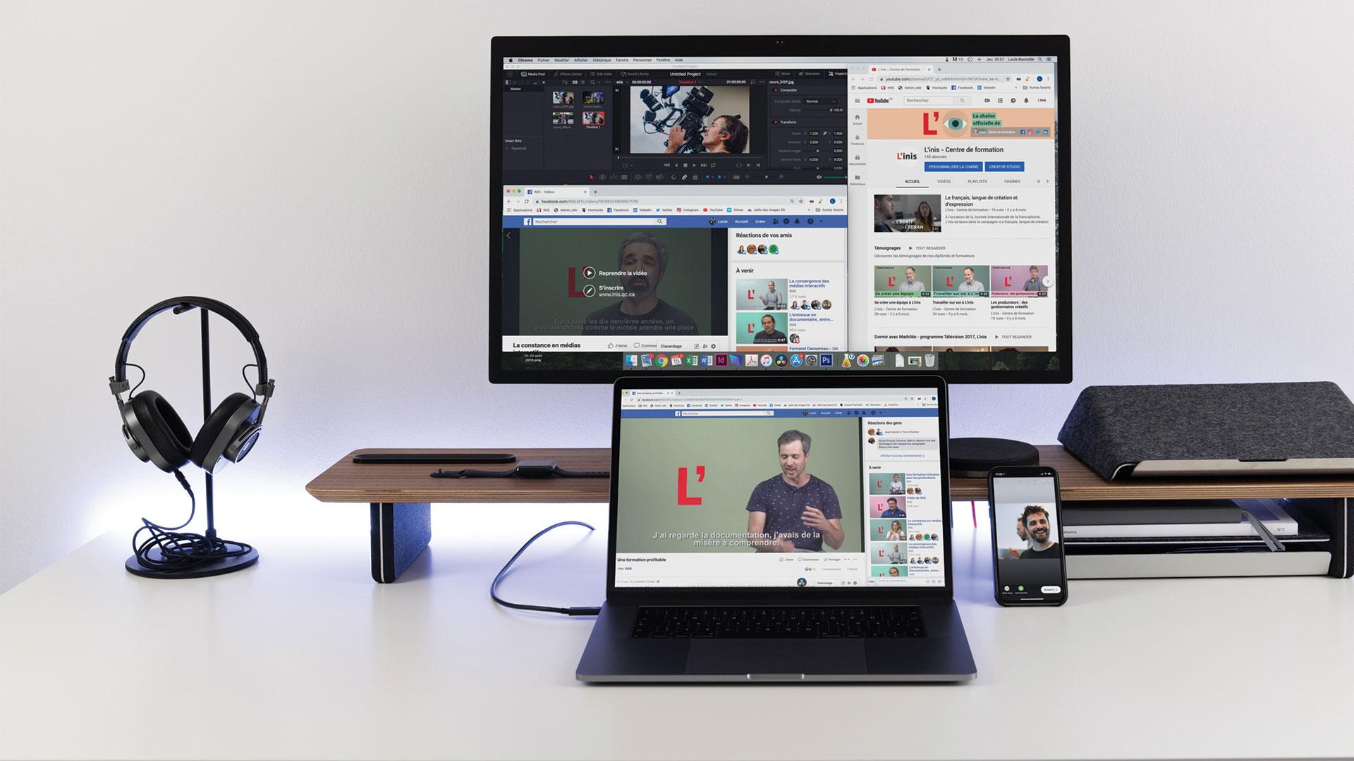 Facebook, Instagram et YouTube pour la création et la diffusion de vidéos